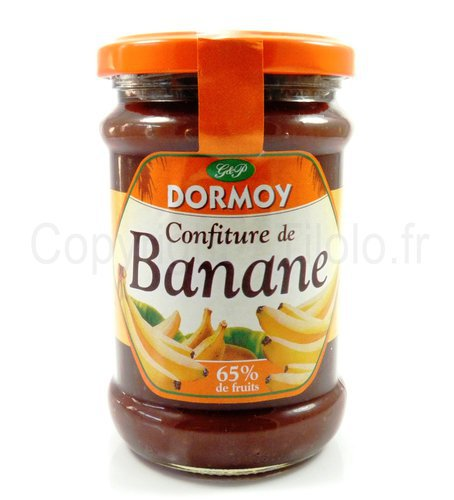 confiture de banane dormoy votre confiture banane sur. Black Bedroom Furniture Sets. Home Design Ideas